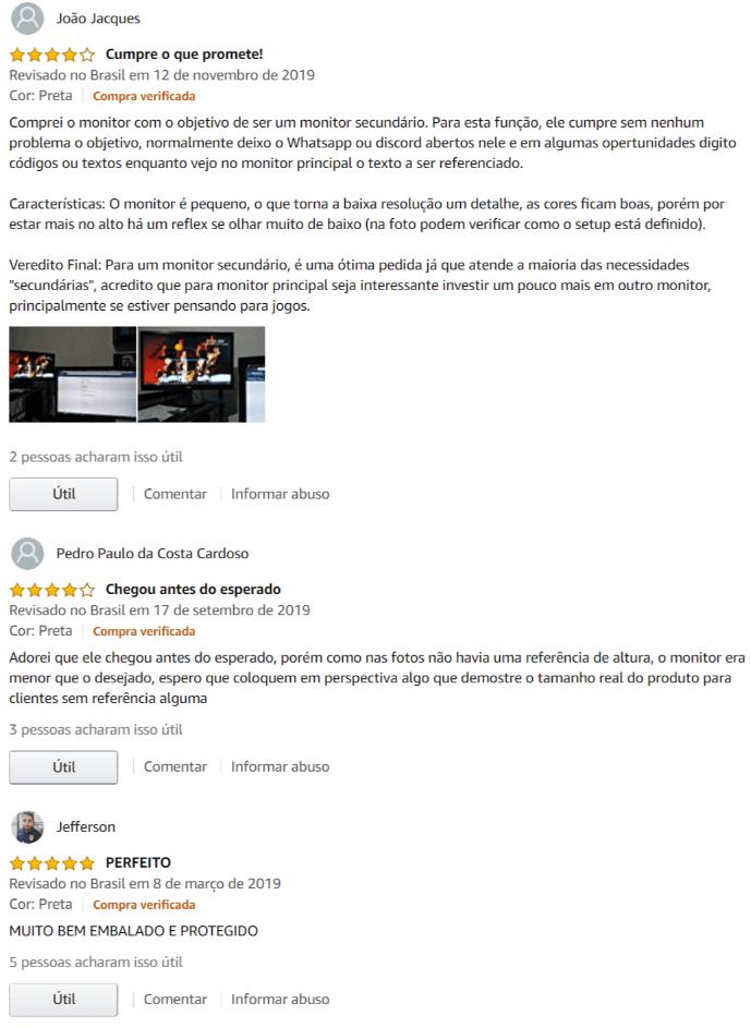 comentários sobre AOC E970 SWNL