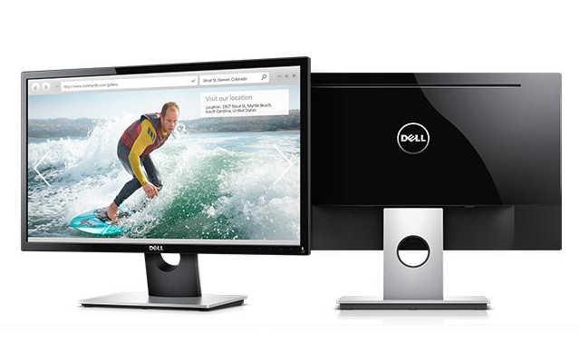 Imagem do monitor Dell SE2416H frente e verso