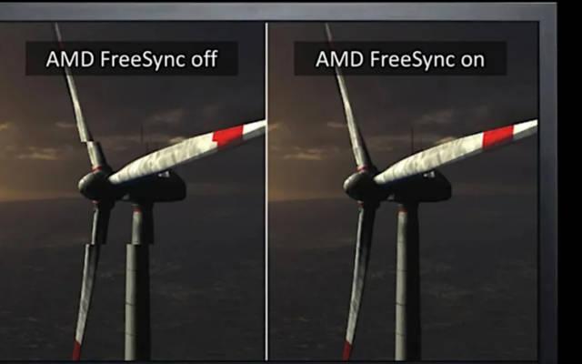 Exemplo do AMD FreeSync em ação