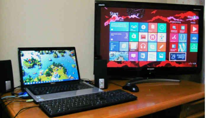 tv como monitor